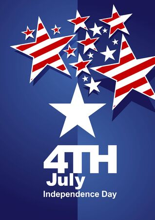 4th of july: 4th July red white stars blue background