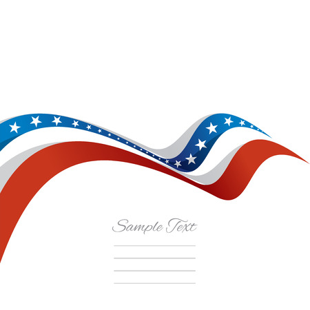 Abstract cover US ribbon white background vector Vector