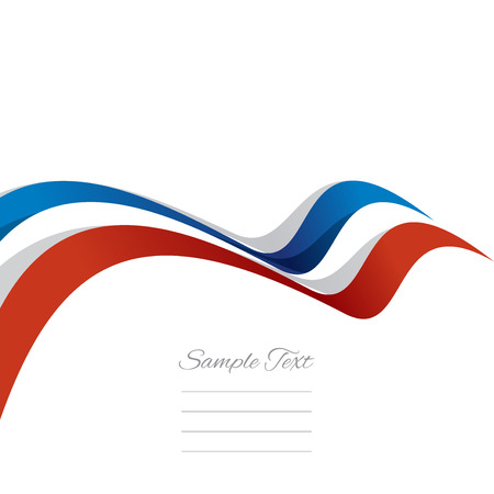french flag: Abstract cover French ribbon white background vector