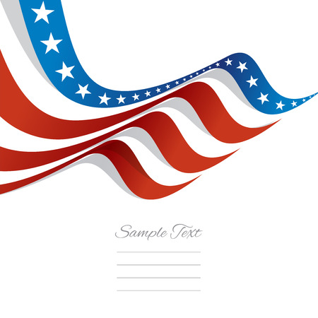 Abstract US flag top left cover vector