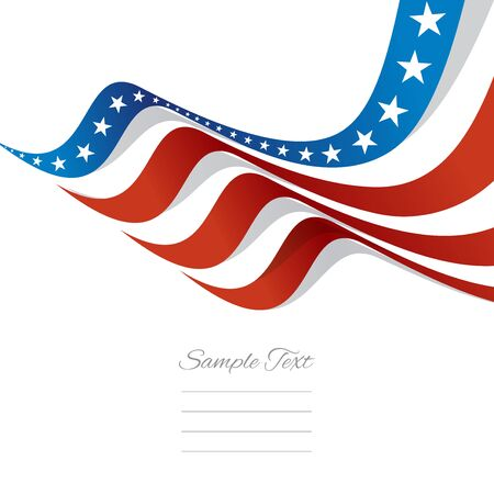 Abstract US flag top right cover vector Vector