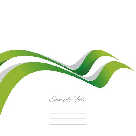 abstract background vector: Abstract cover Nigerian ribbon white background vector