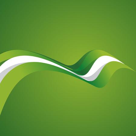 bandera blanca: Cubierta abstracta cinta nigeriana vectorial