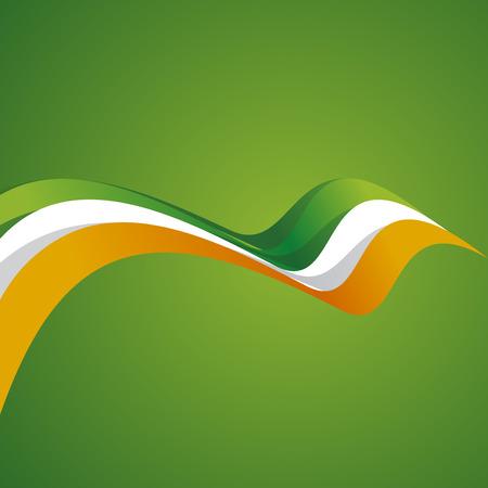Abstract cover Irish ribbon vector Vector