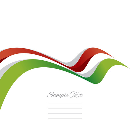Abstract cover Hungarian ribbon white background vector