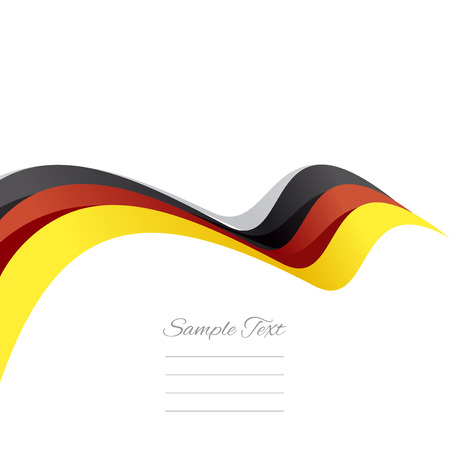 german mark: Abstract cover German ribbon white background vector