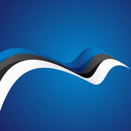 estonian: Abstract cover Estonian ribbon vector Illustration