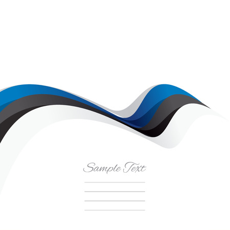 estonian: Abstract cover Estonian ribbon white background vector Illustration