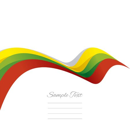 lithuanian: Abstract cover Lithuanian ribbon white background vector