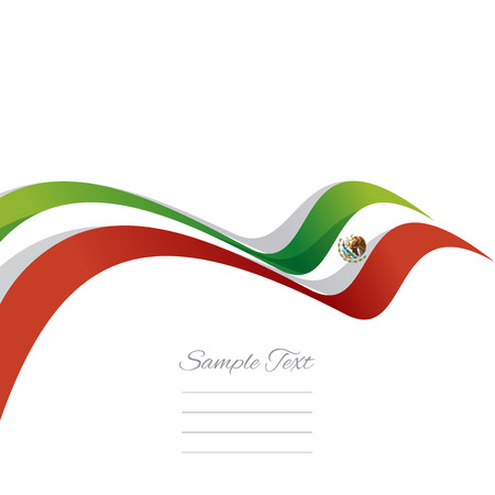 Abstract cover Mexican ribbon white background vector Illustration
