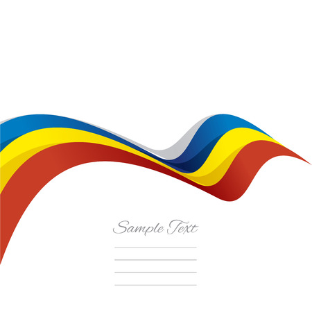romanian: Abstract cover Romanian ribbon white background vector