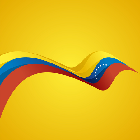 venezuelan: Abstract cover Venezuelan ribbon vector Illustration