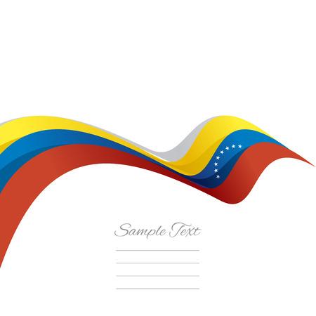 venezuelan: Abstract cover Venezuelan ribbon white background vector