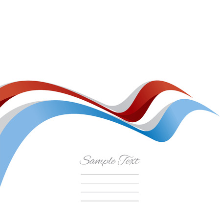 red banner: Abstract cover Luxembourg ribbon white background vector