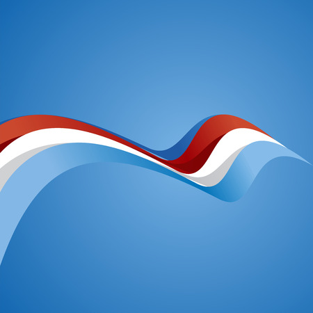 wave vector: Abstract cover Luxembourg ribbon vector Illustration