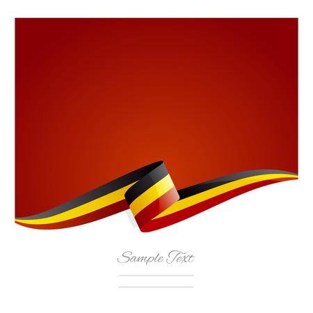 New abstract Belgium flag ribbon
