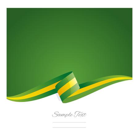 lia: New abstract Brazil flag ribbon