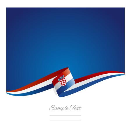 New abstract Croatia flag ribbon