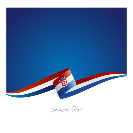 New abstract Croatia flag ribbon