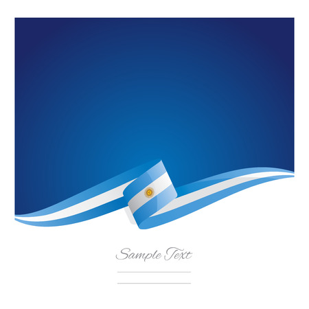 New abstract Argentinean flag ribbon