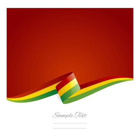 New abstract Bolivia flag ribbon