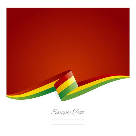 New abstract Bolivia flag ribbon