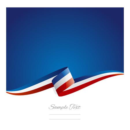 Nowa flaga Francji abstrakcyjne wstążka