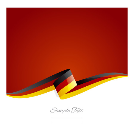 New abstract Germany flag ribbon Ilustracja