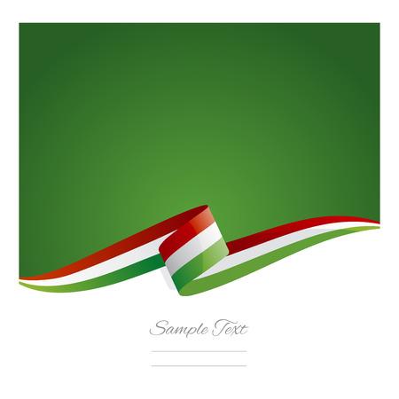 새로운 추상 헝가리 플래그 리본 일러스트