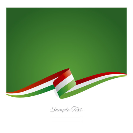New abstract Hungary flag ribbon