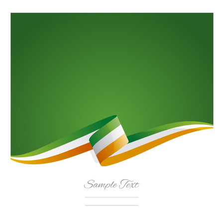 New abstract Ireland flag ribbon