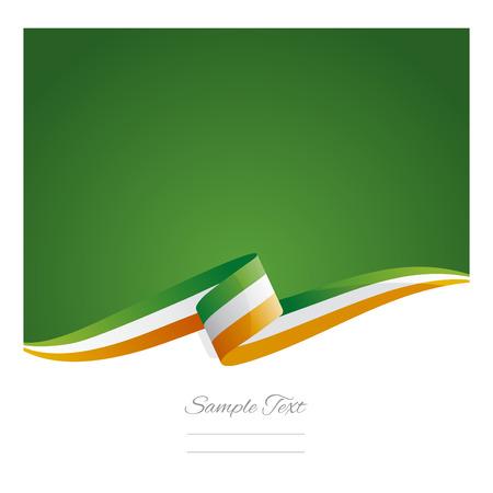 ireland flag: New abstract Ireland flag ribbon