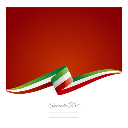 flag vector: New abstract Italy flag ribbon Illustration
