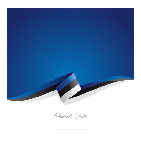 New abstract Estonia flag ribbon Иллюстрация