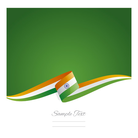 flag vector: New abstract India flag ribbon