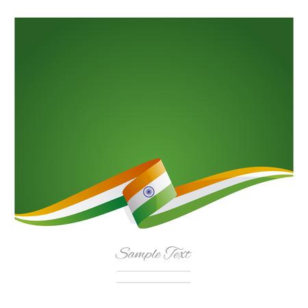 bandera de la india: Nueva abstracta India cinta bandera