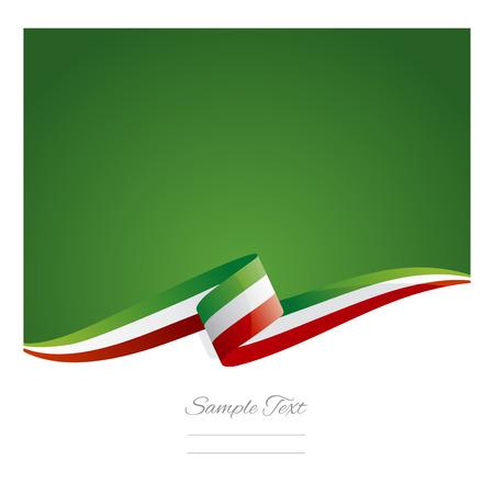 bandera de mexico: Nueva cinta abstracta bandera de México Vectores