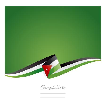 jordan: New abstract Jordan flag ribbon Illustration