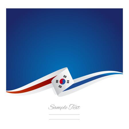 business travel: New abstract Korea flag ribbon