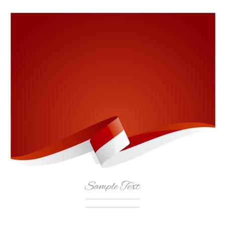 New abstract Monaco flag ribbon  イラスト・ベクター素材