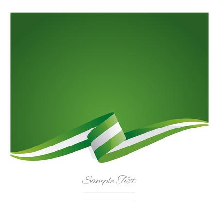New abstract Nigeria flag ribbon Illustration