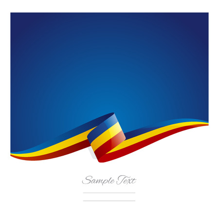 romania: New abstract Romania flag ribbon