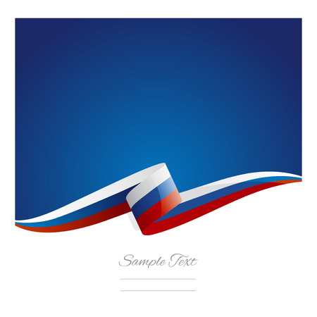 russia flag: New abstract Russia flag ribbon