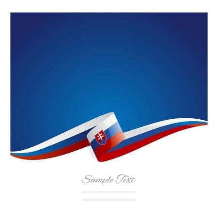 新しい抽象スロバキア国旗リボン...
