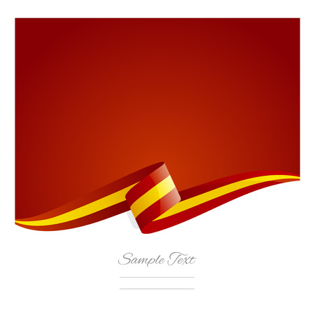 New abstract Spain flag ribbon