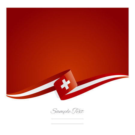 swiss flag: New abstract Swiss flag ribbon
