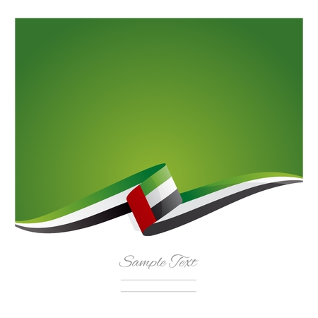New abstract UAE flag ribbon Stok Fotoğraf - 41623072