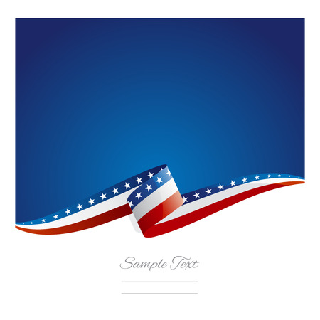 flag vector: New abstract USA flag ribbon