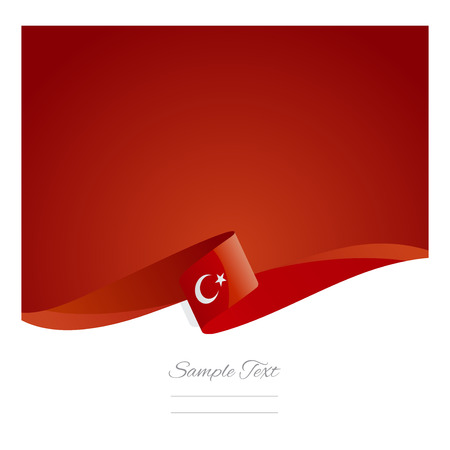 flag vector: New abstract Turkish flag ribbon