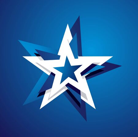 4th july: 4th July abstract star blue background Illustration